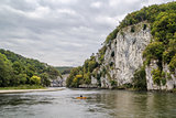 the rocky shores of the Danube, Germany