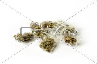 cannabis marijunana medicine dose bags