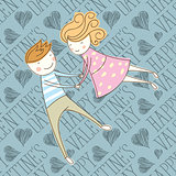 Vector Seamless Card With Couple 16 [Converted]