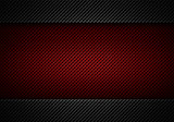 Abstract modern red black perforated plate