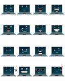 Sixteen laptop emojis