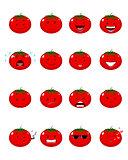 Sixteen tomatoes emojis