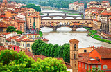 River Arno in Florence with bridge Ponte Vecchio