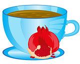 Tea with fruit garnet