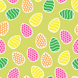 Easter seamless pattern with small holiday eggs
