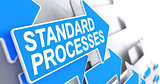 Standard Processes - Message on the Blue Cursor. 3D.