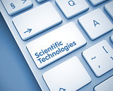 Scientific Technologies - Inscription on  Keyboard Keypad. 3D.