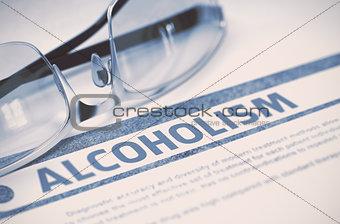 Alcoholism. Medicine. 3D Illustration.