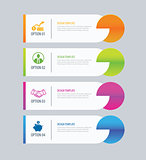 Modern tab index infographic options template with paper sheets.