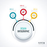 Abstract circle infographics number options template. Vector ill