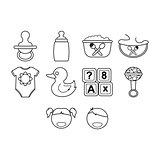 Kids icon set