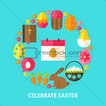 Celebrate Easter Postcard