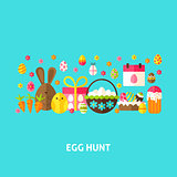 Egg Hunt Greeting Card