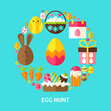 Egg Hunt Postcard
