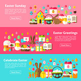Easter Greetings Web Horizontal Banners