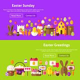 Easter Greetings Website Banners