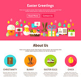 Easter Greeting Website Design