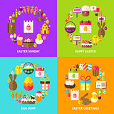 Easter Holiday Concepts Set