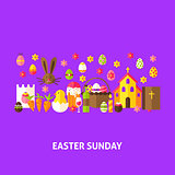 Easter Sunday Greeting Postcard