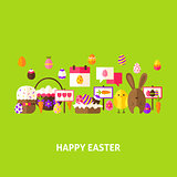 Happy Easter Greeting Postcard