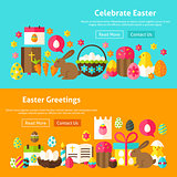 Happy Easter Website Banners