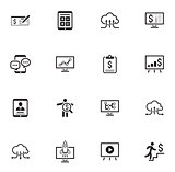 Business and Money Icons Set. Flat Design.