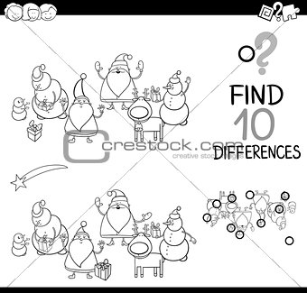 santa claus game coloring page