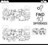 farm animals game for coloring