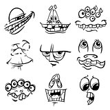 black and white monster characters