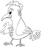 bird character coloring page