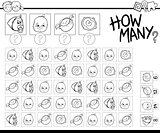 counting babies coloring page