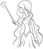 witch character coloring page
