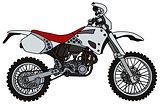 White terrain motorbike