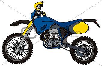 Blue motocross bike