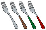Four color forks