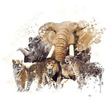 Wild Animals Watercolor