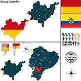 Map of Azuay, Ecuador