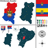 Map of Chimborazo, Ecuador