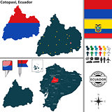 Map of Cotopaxi, Ecuador