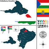 Map of Imbabura, Ecuador