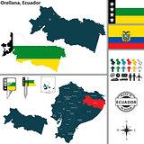 Map of Orellana, Ecuador