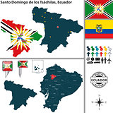 Map of Santo Domingo de los Tsachilas, Ecuador