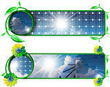 Solar Energy - Two Banners with Solar Panels
