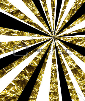 Abstract background with golden rays