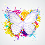 Paper butterfly and blots