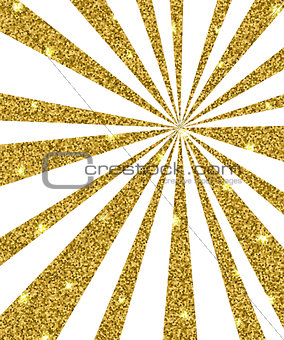 Background with golden rays