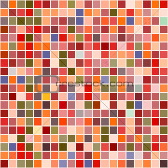 Bright mosaic seamless pattern background square tiles