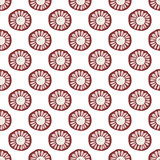 Seamless pattern floral ornament background.