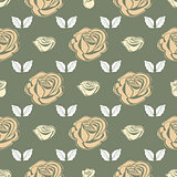 Seamless pattern Bud roses.