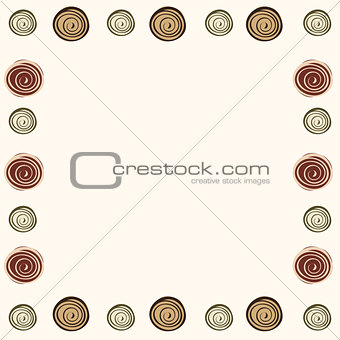 Abstract frame background pattern.